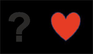 Fragezeichen mit Herz