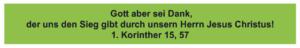 Danlbar und glücklich - 1. Korinther 15