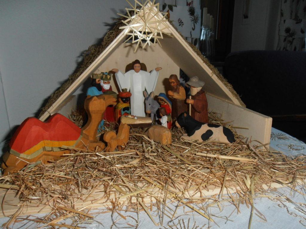 Weihnachten-Krippe