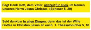 Dankbar und glücklich - Epheser un Thessalonicher