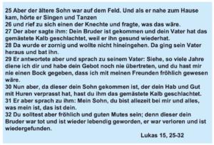 Danlbar und glücklich - Lukas 15