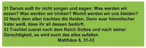 Danlbar und glücklich - Matthäus 6