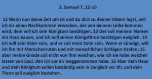 Bibelkurs - 2. Samuel 7