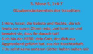 Bibelkurs - Glaubensbekennstnis Israels