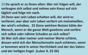 bibelkurs-Lukas 9, 23-26