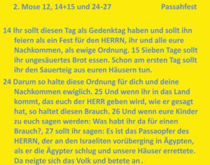 Bibelkurs - Pssahfest
