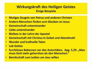 Bibelkurs-Wirkungskraft des Heiligen Geistes