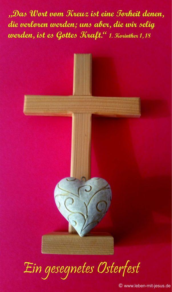 e-cards Holzkreuz mit weißem Herz