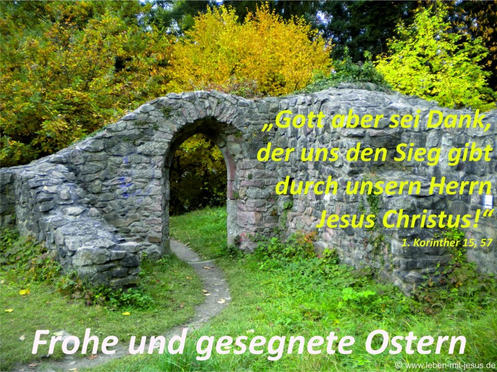 e-cards Ostern-Tor im Frühling