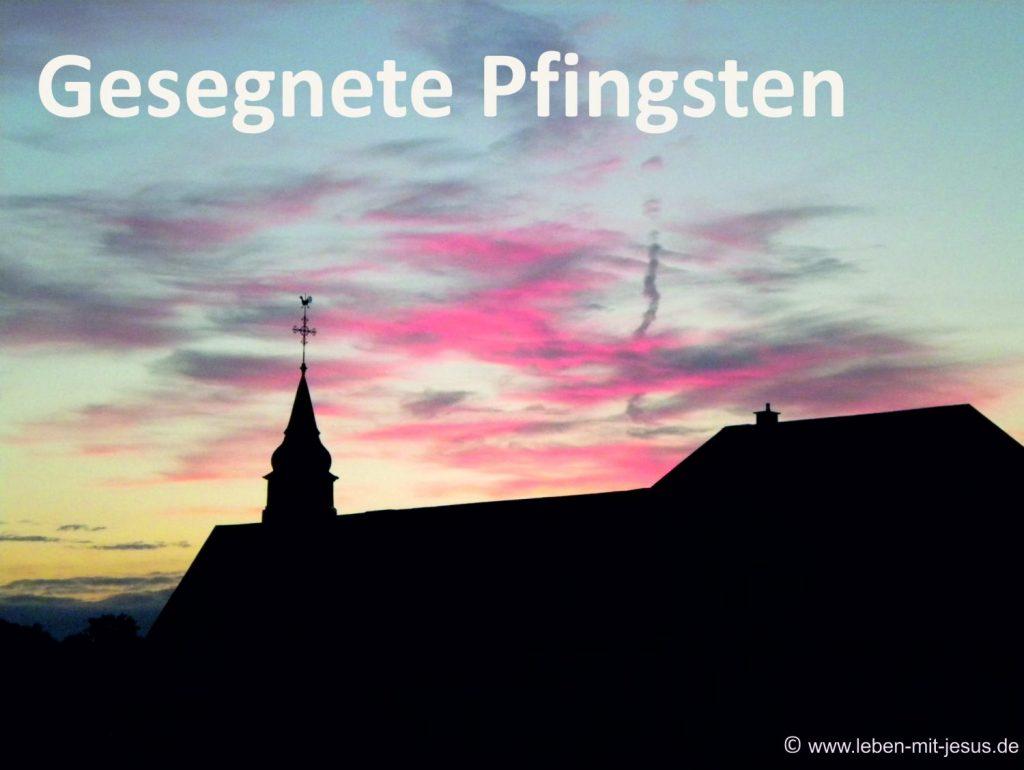 e-cards-Kirche mit Himmel