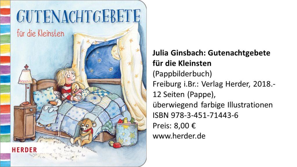 Buchtipps Julia Ginsbach Gutenachtgebet Beten Nachtgebet