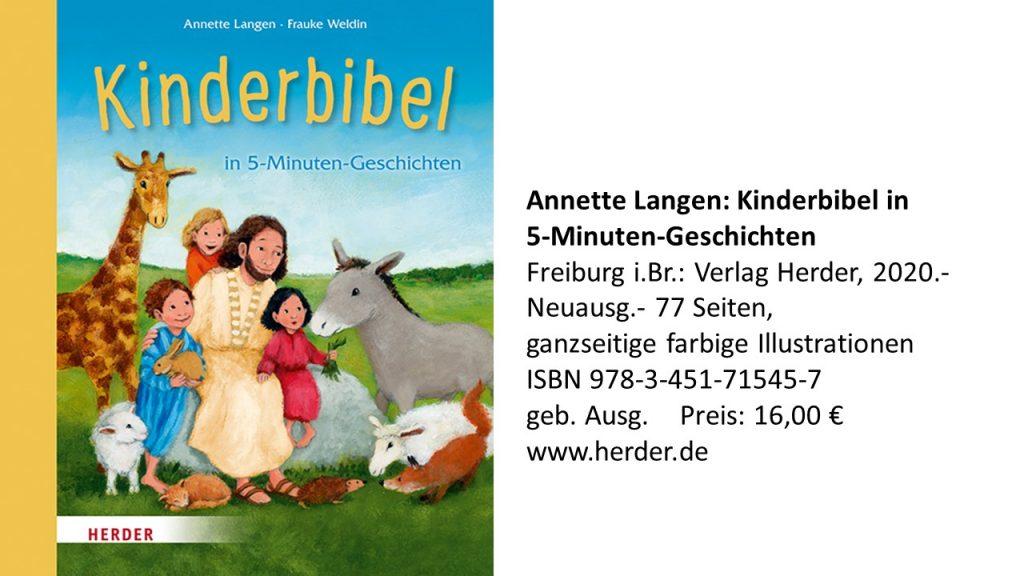 Buchtipps Annette Langen Kinderbibel Jesus