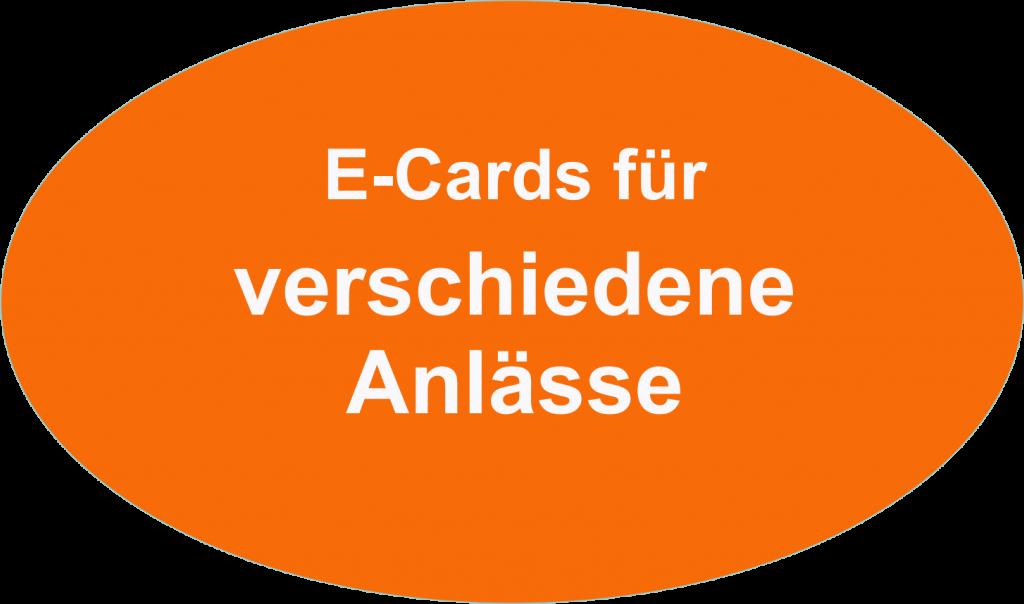 e-cards verschiedene Anlässe